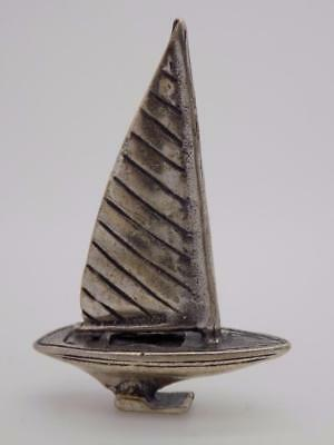 Vintage Sterling Silver 925 Italian Made Micro Sailing Ship, Stamped, Figurine