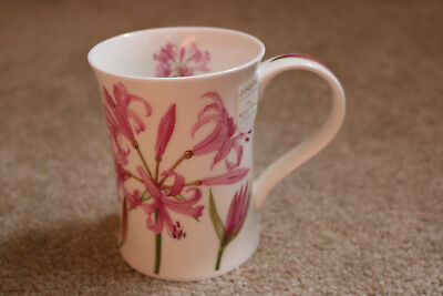 Dunoon Fine Bone China Cup - Pretty Pink Lily Design