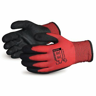 Superior Winter Work Gloves - Fleece-Lined With Black Pvc Palm For Tight Grip (C
