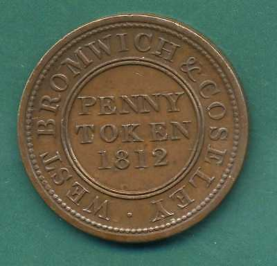 1812 West Bromwich One Penny Token.