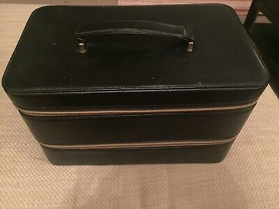 No7 black Vanity Case with mirror and compartments
