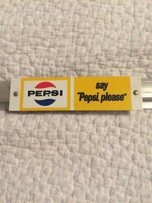 "Vintage Pepsi Cola Aluminum Frame with ""say Pepsi, please"" Sign for CB Insert"