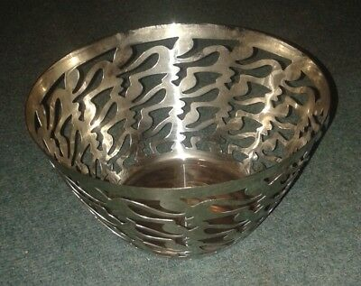 Alessi Ethno Large Stainless Steel Fruit Bowl Basket by Stefan Giovannoni