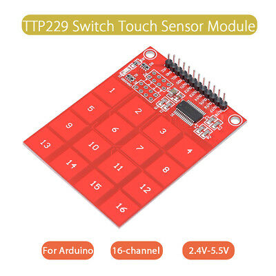 TTP229 16 Way Switch Button Touch Sensor Module Digital Capacitive For Arduino
