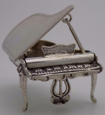 Vintage Solid Silver Italian Made LARGE Piano Miniature, Figurine, Stamped