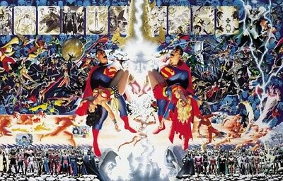 Alex Ross George Perez Crisis On Infinite Earths Oversize Poster Sealed DC comic