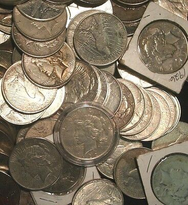 Peace Silver Dollars US Coin lot, Circulated, Choose How Many!