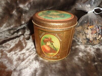 Vintage Coca Cola Collectible Tin With Puzzle 1985 Victorian Style
