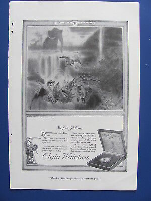 1920 Elgin Watch Watches Before Adam Ad