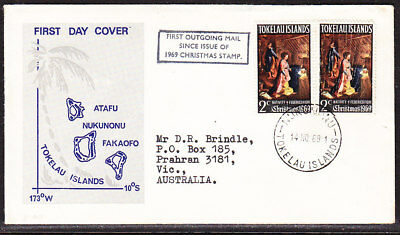 Tokelau 1969 Christmas First Outgoing Mail First Day Cover - Unaddressed