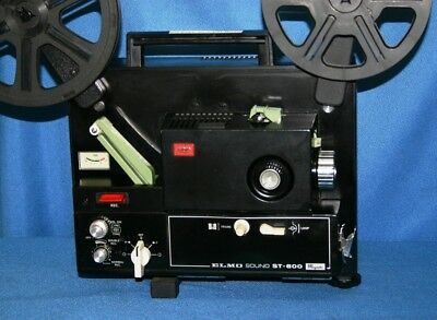 PROJECTOR HEAVEN ELMO ST-800 SUPER 8mm MAGNETIC SOUND MOVIE PROJECTOR SERVICED
