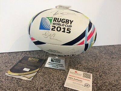 Signed rugby ball match used all blacks