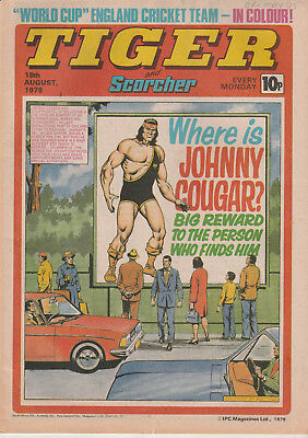 Tiger & Scorcher Comic 18Th August 1979 - World Cup England Cricket Team