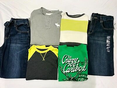 Boys Lot: GAP and Abercrombie brand shirts, large, and GAP jeans 14 (Brand new)!