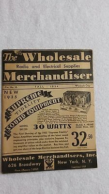 "1934 "" The Wholesale Radio And Electrical Supplies Merchandiser """