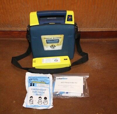 Cardiac Science  AED Powerheart G3 -  with pads and battery