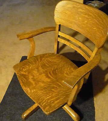 Large early american bankers chair