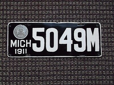 1911    MICHIGAN DEALER MANUFACTURER   License Plate