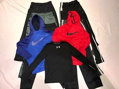 HUGE Nike & Under Armour Boys Lot Size Youth Large and XL Pants/Hoodies 10 items