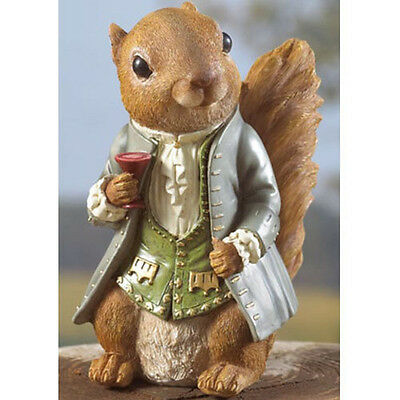 DELUXE Mr. Lord Sir Squirrel FIGURINE New In Box LARGE SALE Indoor/Outdoor
