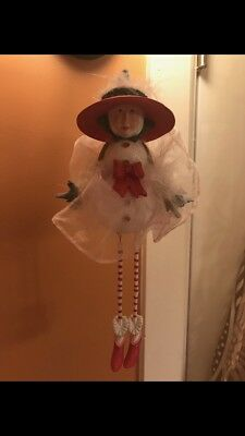 Department 56  Krinkles 9 Inch Snow Man Elf Ornament