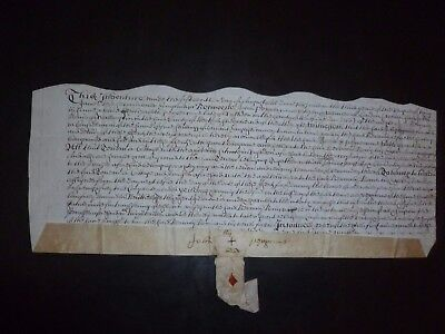 Antique Manuscript dated 1687 for a property in Rushden Hertford