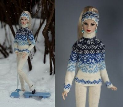 OOAK outfit for FR2 Agnes, Nu Face, Color Infusion and similar size dolls