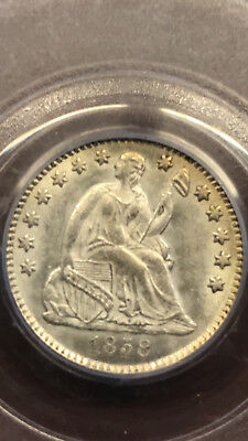 1858 Liberty Seated Half Dime, Pcgs Ms63