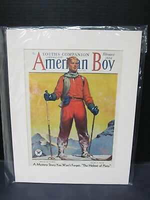 The Youth's Companion Combined With American Boy - Feb. 1934 Framed Cover - NRA