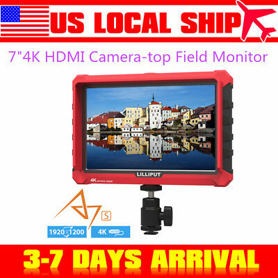 "LILLIPUT A7S 7"" IPS 4K Camera Field Monitor FHD HDMI DSLR For Camcorder DSLR"