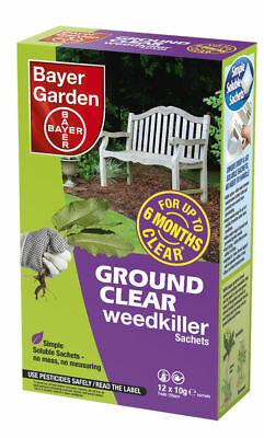GB Seller Bayer Ground Clear Weedkiller Concentrate 1 Sachets