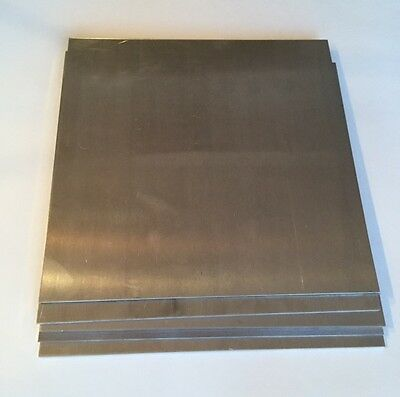 "4 Pieces - 1/8"" .125 Aluminum Sheet Scrap Drops 12"" x 24""  5052 DIY Samples"