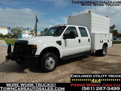 Ford F350 F-350 CREW CAB **4X4** ENCLOSED Work Tool Utility Truck SERVICE TRUCK