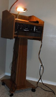 Osc Oklahoma Sound Corporation Series 701 Built-In Amplified Podium-*full-Sized*