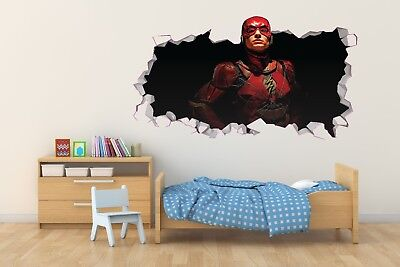 Flash Smashed Wall Decal Removable Wall Sticker Marvel Super Hero