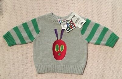 Eric Carle The Very Hungry Caterpillar Pullover Size 000 BNWT