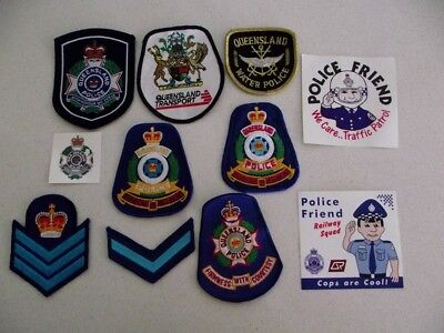 Obsolete/Defunct Queensland Police Patch Lot - Water Police/Stickers/Transport