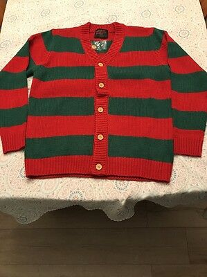 Mondo A Nightmare On Elm Street Sweater Cardigan Style Large