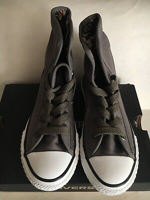 Converse CT super high junior youth Charcoal gray camoflage boy shoes US size 12