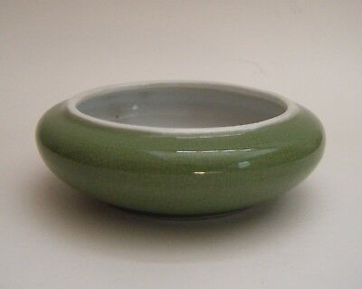 Chinese Green Crackle Glaze Monochrome Porcelain Brush Washer