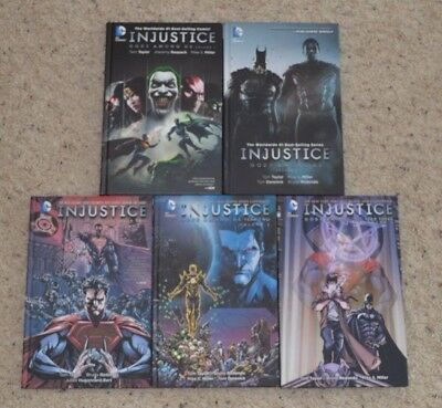 DC Comics Injustice Gods Among Us Hardcover lot HC Year One Two Three 1 2 3 4 5