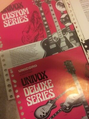 70s  Univox guitar dealer flyers Hi-Flier Ripper Eagle etc RARE