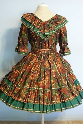 Square Dance Outfit - 2 Piece with Belt and Man's Tie