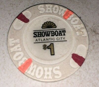 Showboat $1 Casino Chip Atlantic City New Jersey 2.99 Shipping