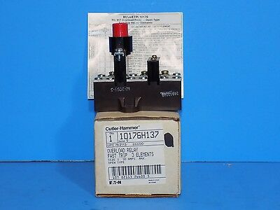 ***cutler-Hammer Overload Relay- Fast Trip- Open Type - 3 Elements ( 10176H137 )