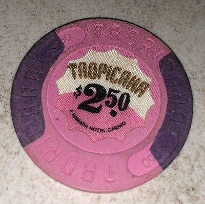 Tropicana $2.50 Casino Chip Atlantic City New Jersey 2.99 Shipping