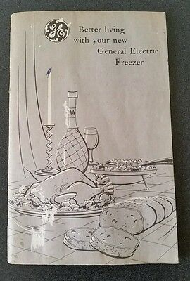 Vintage 1950s GE Genersl Electric Freezer Manual Booklet Only
