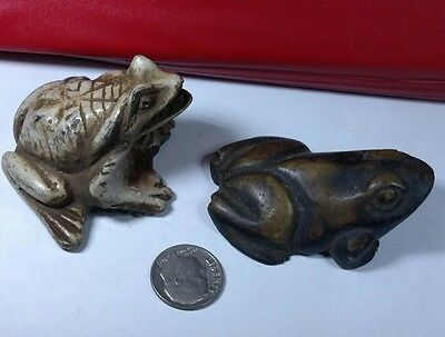 Lot of 2 Egyptian frogs, Kek Goddess, Natural Carved Stone, See Description