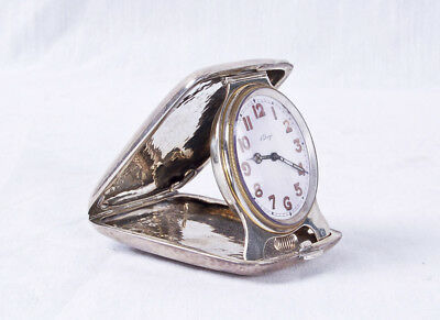 Tiffany & Co. Sterling 8 day travel clock 1920 Original Working Concord Watch Co