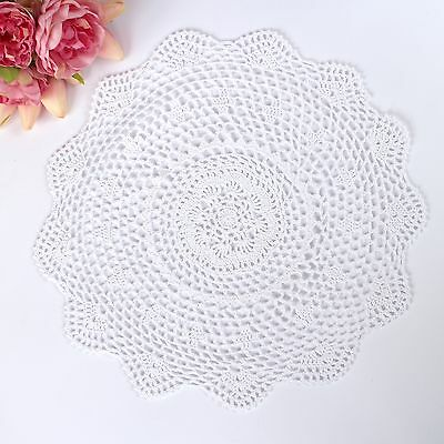 Crochet doily in white 40 cm for millinery , hair and crafts